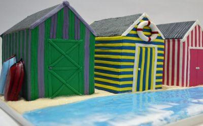 BEACH HUTS CAKES