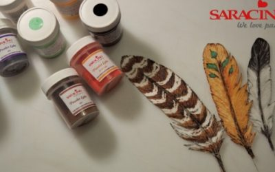 CREATE A WAFER PAPER FEATHER