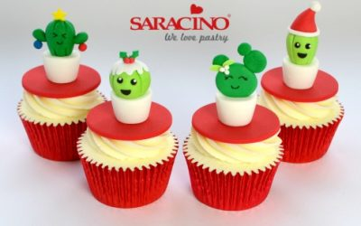 CHRISTMAS CACTUS CUPCAKE TOPPERS