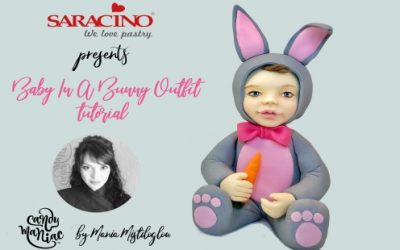 BABY IN A BUNNY OUTFIT