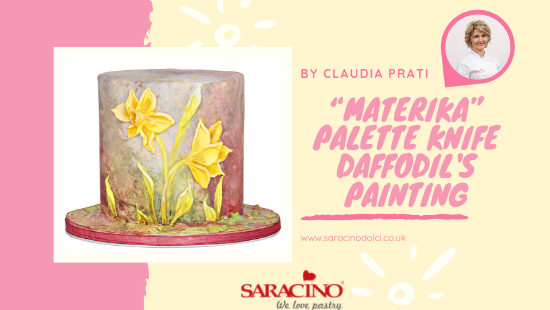 """""""MATERIKA"""" PALETTE KNIFE DAFFODIL'S PAINTING"""
