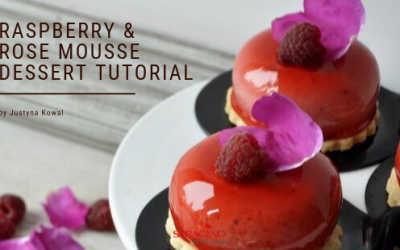 RASPBERRY & ROSE MOUSSE  DESSERT