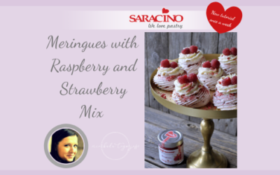 MERINGUES WITH RASPBERRY AND STRAWBERRY MIX