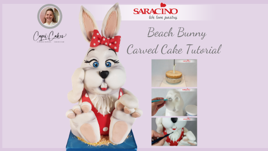 BEACH BUNNY CARVED CAKE TUTORIAL