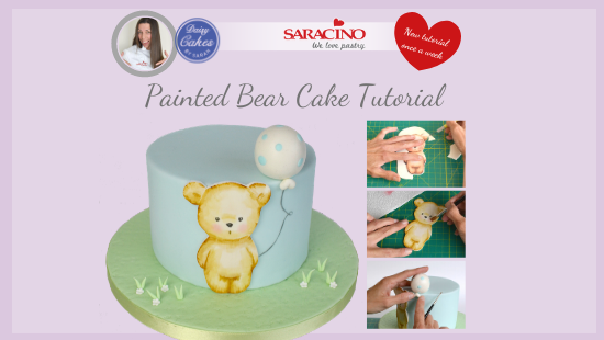 PAINTED BABY BEAR CAKE
