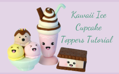 KAWAII ICE CUPCAKE TOPPERS