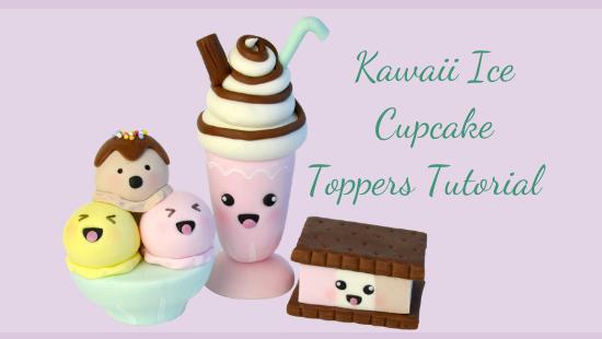 KAWAII ICE CUPCAKE TOPPERS
