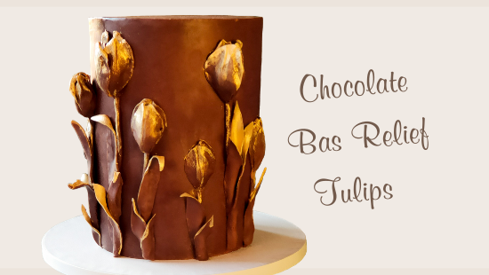 CHOCOLATE BAS RELIEF TULIPS