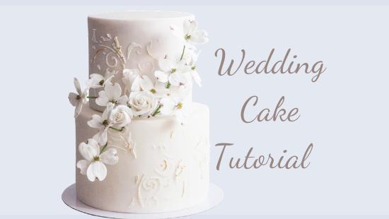 BEAUTIFUL WEDDING CAKE TUTORIAL