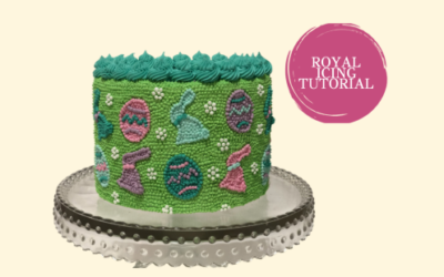 EASTER ROYAL ICING DOT CAKE