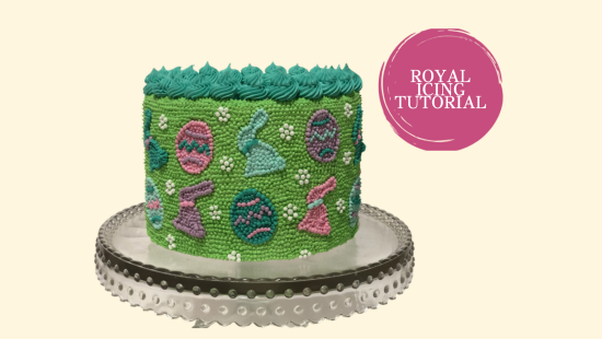 EASTER ROYAL ICING DOT CAKE