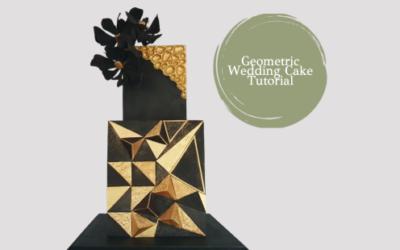 GEOMETRIC BLACK & GOLD WEDDING CAKE TUTORIAL