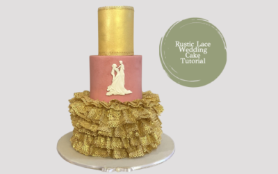 GOLD LACE WEDDING CAKE TUTORIAL