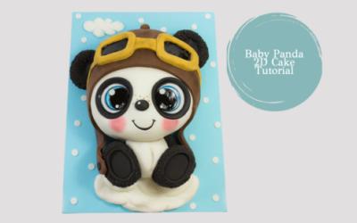 BABY PANDA 3D CAKE TUTORIAL
