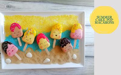 SUMMER CAKE POPS MACARONS
