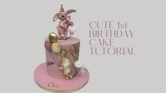 1st BIRTHDAY CUTE PARTY CAKE