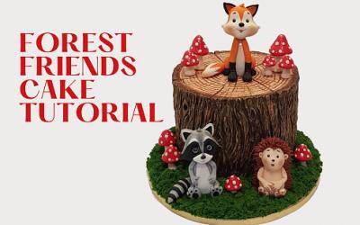 FOREST FRIENDS CAKE TUTORIAL