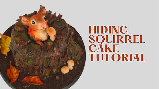 HIDING SQUIRREL CAKE TUTORIAL