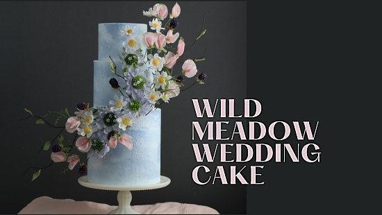 WILD MEADOW WAFER PAPER CAKE