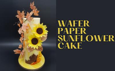 AUTUMN WAFER PAPER WEDDIG CAKE