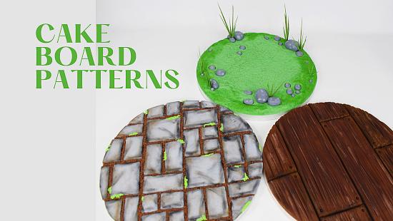 CAKE BOARD PATTERNS
