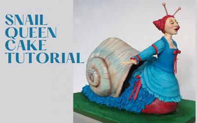 SNAIL QUEEN 3D CAKE TUTORIAL